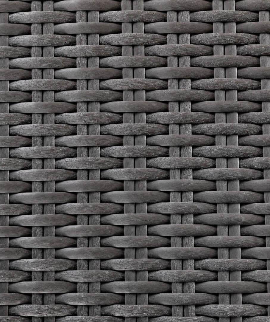 Panneaux extérieurs en fibre synthétique tressée gris
